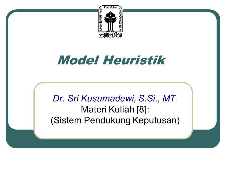 Model Heuristik Dr. Sri Kusumadewi, S.Si., MT. Materi Kuliah [8]: